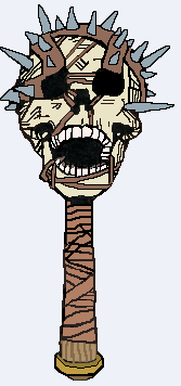 Orcus Skull Mace
