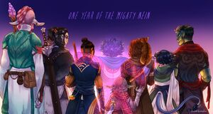 One year Mighty Nein - Anna Landin
