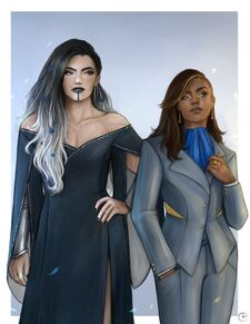Yasha and Beau in formalwear - Porzio art