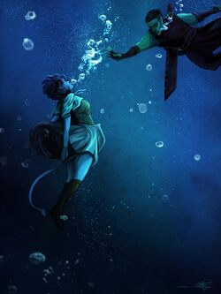 Fjord rescuing the drowning Jester - Olivia Hintz
