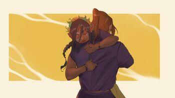 Veth hugging Caleb - BlackSalander