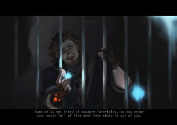 Caleb in the Scourger's prison - AJPutz