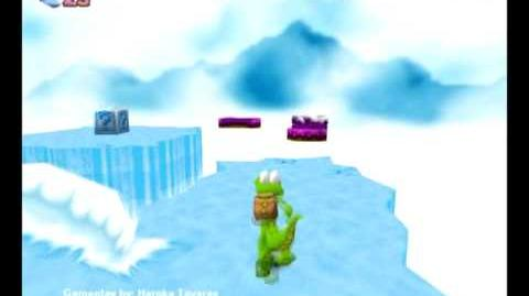 Croc Legend of the Gobbos (PC) - Island 2 Secret 1 (Clouds of Ice)