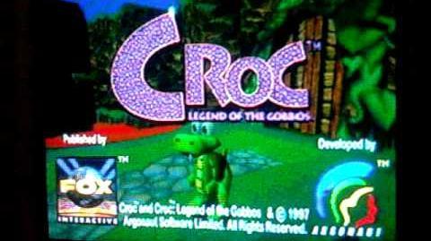 Croc Legend of the Gobbos glitch effect (Sega Saturn)