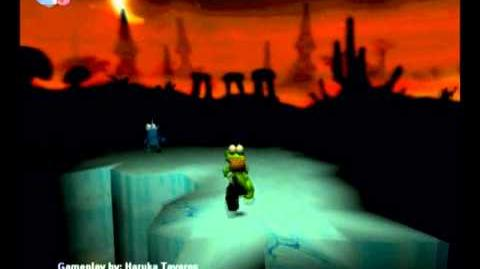 Croc Legend of the Gobbos (PC) - Island 2 Boss 2 (Demon Itsy's Ice Palace)
