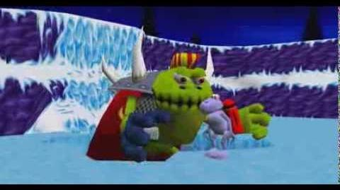 Croc Legend Of The Gobbos - Boss Intro 3 Chumly's Snow Den