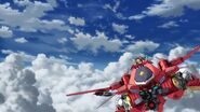 Cross Ange ep 11 Glaive Hilda in Flight Mode