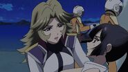 Cross Ange ep 11 Young Jasmine helping Young Alektra