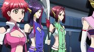 Cross Ange ep 22 Vivian and Salamandinay's Crew