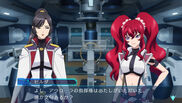 Alektra and Hilda Gameplay scene in Cross Ange TR.