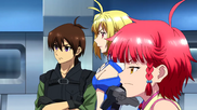 Cross Ange ep 18 Ange, Tusk and Vivian Extended Version