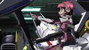 Cross Ange ep 11 Vivian with Assault Rifle