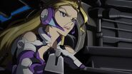 Cross Ange ep 03 Zola commanding her Troop