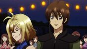 Cross Ange ep 15 Ange and Tusk in the Festival