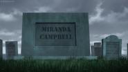 Cross Ange 03 Miranda Campbell's tombstone