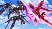 Cross Ange ep 13 Villkiss Michael Mode confronted by Hysterica