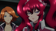 Cross Ange ep 23 Hilda and Rosalie Close-up Extended Version