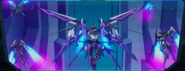 Cross Ange ep 23 Embryo Hysterica Mode and Diamond Rose Knights Extended Version
