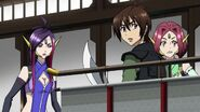 Cross Ange ep 15 Tusk, Naga and Kaname