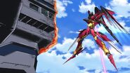Cross Ange ep 13 Villkiss Michael Mode Destroyer Mode destroys Naval Vessels