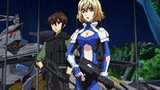 Cross Ange ep 14 Ange and Tusk with Assault Rifles