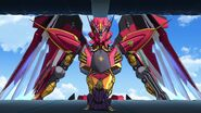 Cross Ange ep 13 Ange's Ragna-mail confronting Julio