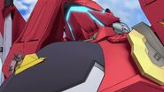 Cross Ange ep 4 Glaive Hilda Destroyer Mode Close-up