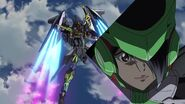 Cross Ange ep 19 Chris piloting Theodra