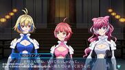 Naomi, Ange and Vivian gameplay scene in Cross Ange TR.