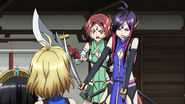 Cross Ange ep 15 Naga and Kaname confronts Ange