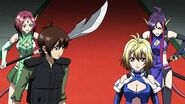Cross Ange ep 15 Ange, Tusk, Naga and Kaname