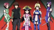 Cross Ange ep 15 Salamandinay, Ange, Tusk, Naga and Kaname