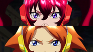 Cross Ange ep 23 Hilda and Rosalie piloting Close-up Extended Version