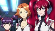 Cross Ange ep 20 Hilda, Rosalie and Mei
