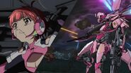 Cross Ange ep 23 Vivian and her para-mail Razor