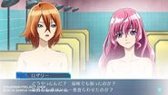 Naomi and Rosalie gameplay scene in Cross Ange TR.
