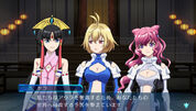 Naomi, Ange and Salamandinay gameplay scene in Cross Ange TR.