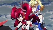 Cross Ange ep 11 Ange and Hilda in Glaive Hilda