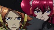 Cross Ange ep 21 Hilda and Rosalie Close-up