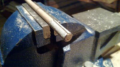 Making fake nocks for use with fletching jigs - 09