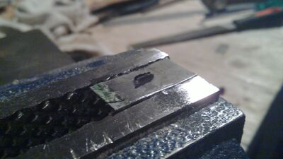 Making metal nock reinforcement - 03