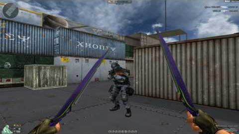 Cross Fire Japan Shadow Knives-Purple Green!