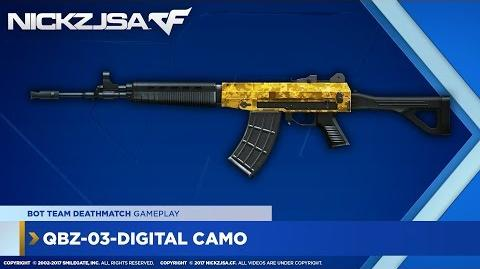 QBZ-03-Digital Camo (Gold) CROSSFIRE China 2