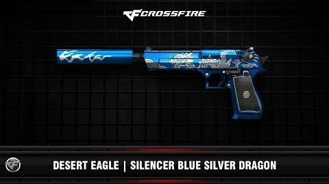 CF Desert Eagle Silencer Blue Silver Dragon