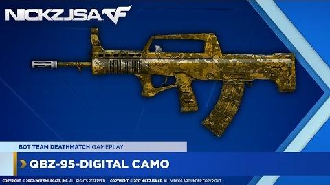 QBZ-95-Digital Camo (Gold) CROSSFIRE China 2