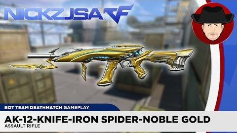 AK-12-Knife-Iron Spider-Noble Gold CROSSFIRE China 2.0 EXP