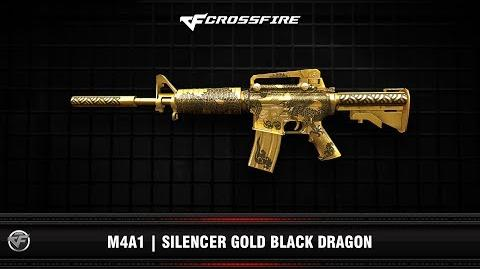 CF M4A1 Silencer Gold Black Dragon