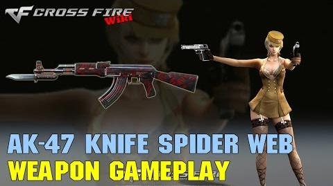 CrossFire - AK-47 Knife Red Spider Web - Weapon Gameplay