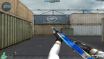 AK47 KNIFE BLUE SILVER DRAGON MELEE