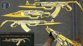 CrossFire China AK47-Red Rifle Beast Noble Gold (王者之鲨) CF News